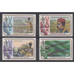 Lesotho - 1980 - No 390/394 - Histoire militaire
