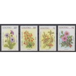 Lesotho - 1987 - Nb 725/728 - Flowers