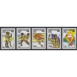 Lesotho - 1987 - No 733/737 - Scoutisme