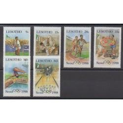 Lesotho - 1987 - No 715/720 - Jeux Olympiques d'été