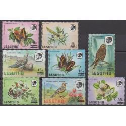 Lesotho - 1987 - No 703/710 - Insectes - Oiseaux