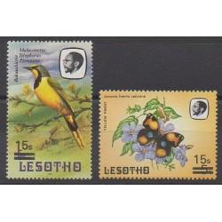 Lesotho - 1987 - No 738/739 - Oiseaux - Insectes