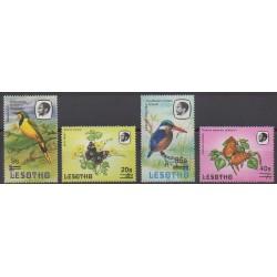Lesotho - 1988 - No 772/775 - Oiseaux - Insectes