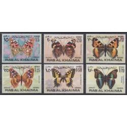 Emirats arabes unis - Ras Al Khaïma - 1972 - No 83/83B - PA91/PA91B - Insectes