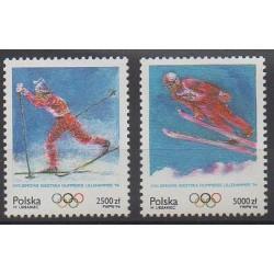 Pologne - 1994 - No 3272/3273 - Jeux olympiques d'hiver