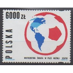 Pologne - 1994 - No 3281 - Coupe du monde de football