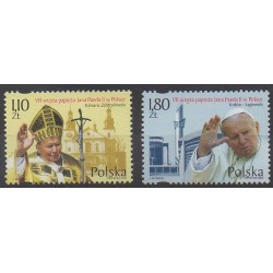 Pologne - 2002 - No 3752/3753 - Papauté