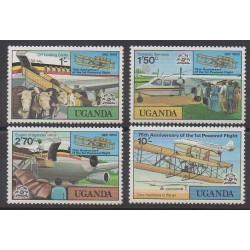 Ouganda - 1978 - No 164/167 - Aviation