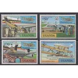 Uganda - 1979 - Nb 184/187 - Planes