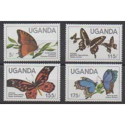 Ouganda - 1984 - No 354/357 - Insectes