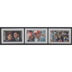 Uganda - 1986 - Nb 418/420 - Royalty