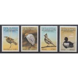 Ouganda - 1985 - No 377/380 - Oiseaux