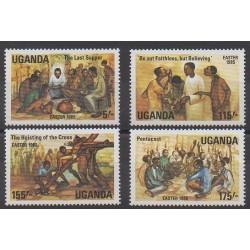 Ouganda - 1985 - No 373/376 - Pâques