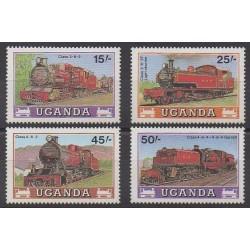 Ouganda - 1988 - No 498/501 - Chemins de fer