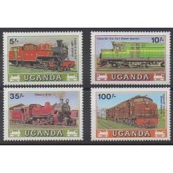 Ouganda - 1988 - No 494/497 - Chemins de fer