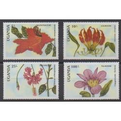 Ouganda - 1988 - No 506/509 - Fleurs