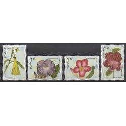 Ouganda - 1988 - No 510/513 - Fleurs