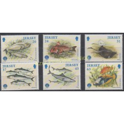Jersey - 1998 - Nb 844/849 - Fishes