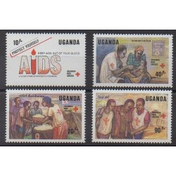 Uganda - 1988 - Nb 514/517 - Health