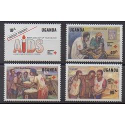 Ouganda - 1988 - No 514/517 - Santé ou Croix-Rouge