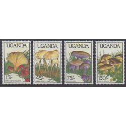 Uganda - 1989 - Nb 571/574 - Mushrooms