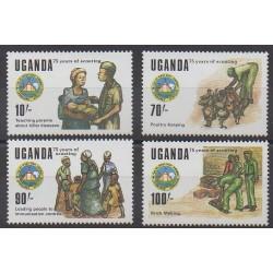 Uganda - 1989 - Nb 567/570 - Scouts
