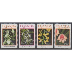 Ouganda - 1990 - No 699/702 - Orchidées