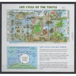 Palau - 1995 - No 867/872 - Reptiles