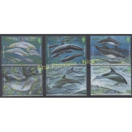 Jersey - 2000 - No 937/942 - Poissons