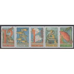 Palau - 1996 - No 882/886 - Animaux marins