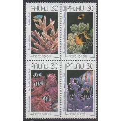 Palau - 1990 - No 365/368 - Animaux marins