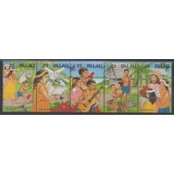 Palau - 1990 - No 356/360 - Noël - Musique