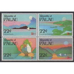 Palau - 1987 - No 170/173 - Sites - Philatélie
