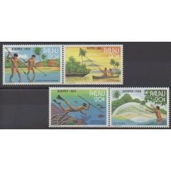 Palau - 1984 - No 51/54 - Artisanat ou métiers - Philatélie