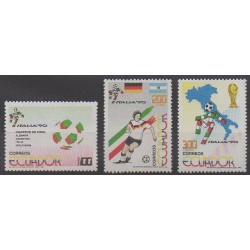 Équateur - 1990 - No 1203/1205 - Coupe du monde de football