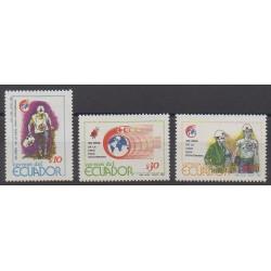 Équateur - 1989 - No 1189/1191 - Santé ou Croix-Rouge
