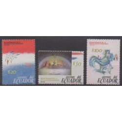 Équateur - 1989 - No 1186/1188 - Révolution Française