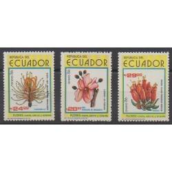 Ecuador - 1986 - Nb 1101/1103 - Flowers