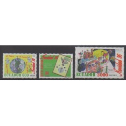 Ecuador - 1996 - Nb 1375/1377 - Christmas - Children's drawings