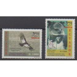 Équateur - 1996 - No 1344A/1344B - Oiseaux - Environnement