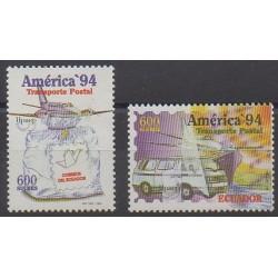 Équateur - 1994 - No 1316/1317 - Service postal
