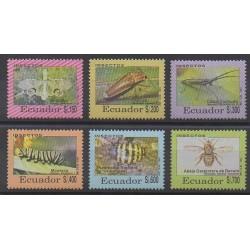 Équateur - 1993 - No 1270/1275 - Insectes