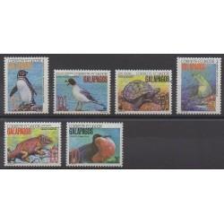 Équateur - 1992 - No 1240/1245 - Oiseaux - Reptiles