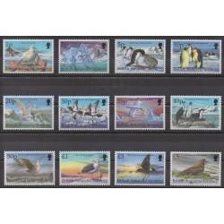 Grande-Bretagne - Territoire antarctique - 1998 - No 290/301 - Oiseaux