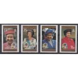 Grande-Bretagne - Territoire antarctique - 1996 - No 269/272 - Royauté - Principauté
