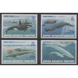 Grande-Bretagne - Territoire antarctique - 1996 - No 273/276 - Mammifères - Animaux marins