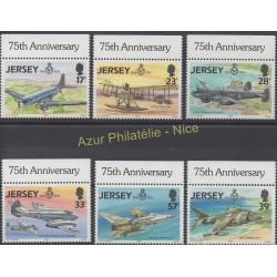 Jersey - 1993 - No 609/614 - Avions