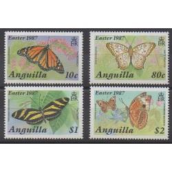 Anguilla - 1987 - No 667/670 - Insectes