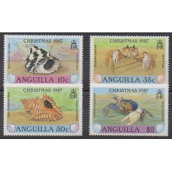 Anguilla - 1987 - No 702/705 - Animaux marins
