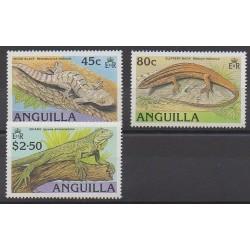 Anguilla - 1989 - No 726/728 - Reptiles